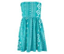 Strandkleid aqua / weiß