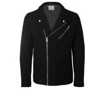 Woll-Jacke schwarz