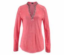 Langarmshirt »Used Look mit Pailletten« orange