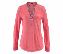 Langarmshirt »Used Look mit Pailletten« koralle