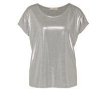 Shirt mit Glanzeffekt grau