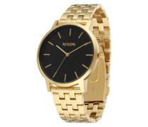 Armbanduhr 'Porter' gold / schwarz
