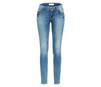 Slimfit Jeans 'Jona 2 Button Authentic Blue' blue denim