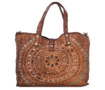 'Echinacea Shopper' Tasche 46 cm braun