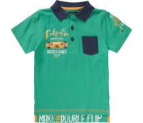 Poloshirt für Jungen dunkelblau / grün / orange / weiß