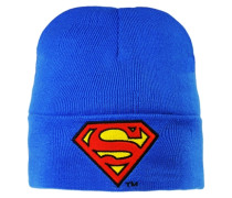 Strickmütze - Superman – Logo blau