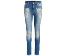 Stickerei-Detail-Skinny Fit Jeans 'objskinny Sarah'