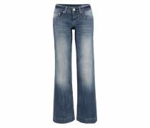 Jeans mit weitem Bein 'Judie' dunkelblau