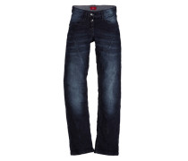 Kimi: Jeans mit diagonalen Nähten blau