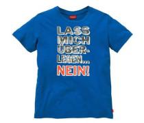 """T-Shirt """"Lass mich überlegen....NEIN"""" blau"""