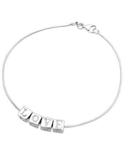 Armband 'Love' silber