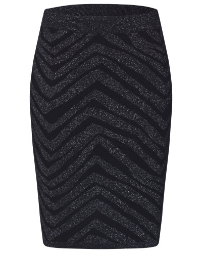 Rock 'knit Skirt Above Knee' schwarz