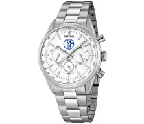 Schalke 04 Chronograph »Sonderedition F16820/p« silber