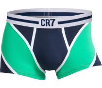 Boxer CR7 Fashion Trunk türkis / dunkelblau / weiß