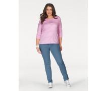 3/4-Arm-Shirt pink / weiß