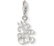 Charm-Einhänger »Teddybär 1322-001-12« silber