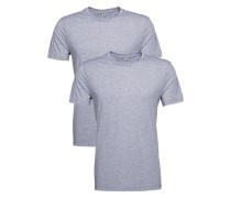 T-Shirt 'Base HTR r t' im 2er Pack graumeliert
