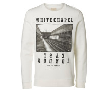 Crew-Neck-Sweatshirt weiß