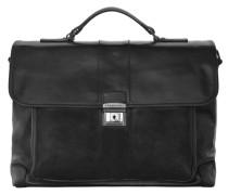 Classic Aktentasche Leder 40 cm schwarz
