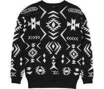 Pullover für Mädchen schwarz / weiß