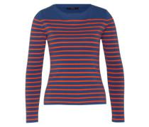 Pullover mit Streifen-Design royalblau