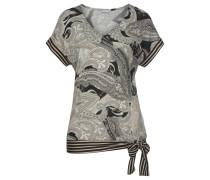 Shirt schwarz / beige / taupe / hellbeige
