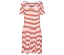Kleid mit kurzen Ärmeln rot / weiß