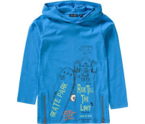 Langarmshirt mit Kapuze für Jungen royalblau / hellgrün / hellorange / schwarz