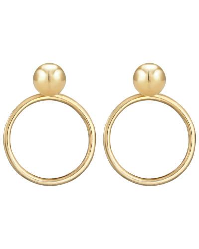 Ohrringe Kreis Geo Ohrstecker gold