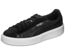 Suede Platform 'Metallic Safari' Sneaker schwarz
