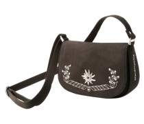 Trachtentasche mit Stickerei dunkelbraun