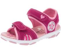 Kinder Sandalen WMS-Weite M4 rosa / rot