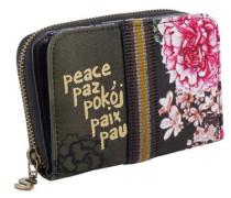 Portemonnaie oliv / pink