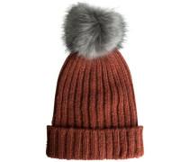 Bommel-Mütze rostrot