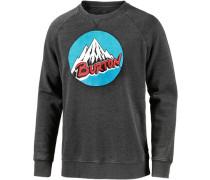 Retro Mountain Sweatshirt Herren schwarz