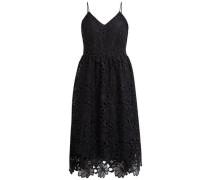 Spitzen Träger-Kleid schwarz