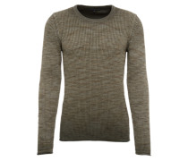 Grobstrick-Pulli 'Heath' khaki