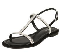 Sandale 'Castellaa' schwarz / silber