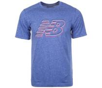 Heather Graphic T-Shirt blau