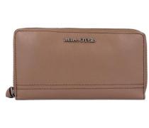 'Grainy Buff Zip Wallet L' Geldbörse Leder 19 cm braun