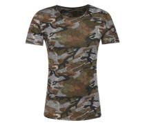 T-Shirt 'MT Celebrate' braun / grau / oliv