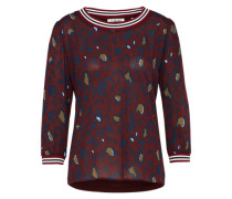 Langarm-Shirt burgunder
