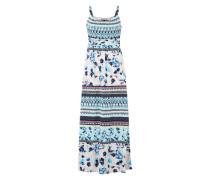 Langes Kleid im Mustermix mischfarben