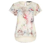 Printshirt mit gewebter Front 'Polly' weiß