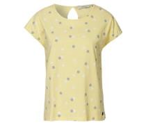 T-Shirt gelb / grau / weiß