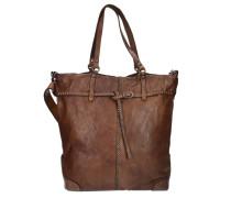 Azalea Shopper Tasche Leder 32 cm braun