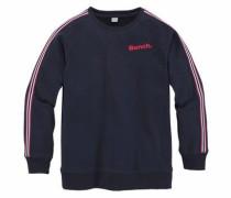 Sweatshirt marine / cranberry / weiß