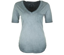 T-Shirt 'vneck Paillette' rauchblau