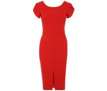 Kleid mit Rückenausschnitt rot
