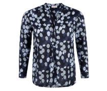 Viskose-Bluse mit Punktemuster nachtblau